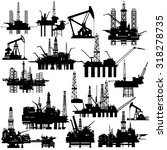 drilling rigs and pumps for oil ...   Shutterstock . vector #318278735