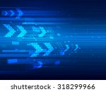 vector design technology speed... | Shutterstock .eps vector #318299966