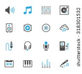 music icons | Shutterstock .eps vector #318301532