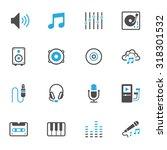 music icons | Shutterstock .eps vector #318301532