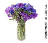 purple and pink spring flowers...   Shutterstock . vector #318301766