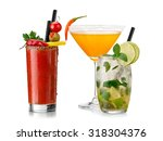 bloody mary  mojito and chilli... | Shutterstock . vector #318304376