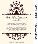 card design template. can be... | Shutterstock . vector #318314636