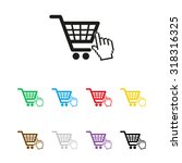 shopping bag   vector icon | Shutterstock .eps vector #318316325