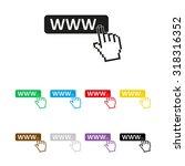 www icon   vector icon | Shutterstock .eps vector #318316352