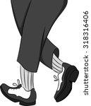 illustration of a tap dancer... | Shutterstock .eps vector #318316406