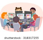 stickman illustration of kids... | Shutterstock .eps vector #318317255
