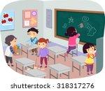 illustration of stickman kids... | Shutterstock .eps vector #318317276