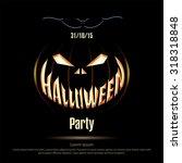 vector illustration. halloween... | Shutterstock .eps vector #318318848