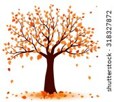 autumn tree | Shutterstock .eps vector #318327872
