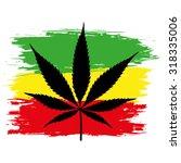 leaf of cannabis  marijuana ... | Shutterstock .eps vector #318335006