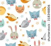 vector illustration. cute... | Shutterstock .eps vector #318348806