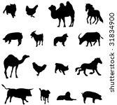 farm animals livestock and... | Shutterstock .eps vector #31834900