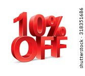 10 percent off promotional... | Shutterstock .eps vector #318351686