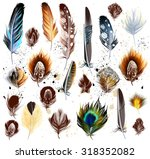 collection of vector colorful... | Shutterstock .eps vector #318352082