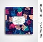 vector seamless grunge... | Shutterstock .eps vector #318353498
