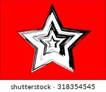 set of three star vector... | Shutterstock .eps vector #318354545