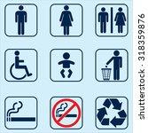 toilet restroom icons | Shutterstock .eps vector #318359876