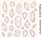 Set Of Vector Crystal Shapes ...