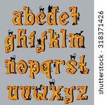spooky halloween font uppercase ... | Shutterstock .eps vector #318371426