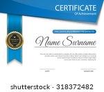 vector certificate template. | Shutterstock .eps vector #318372482