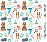 seamless pattern. grooming for... | Shutterstock .eps vector #318373682