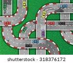 auto racing on highway   Shutterstock .eps vector #318376172