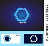 vector company logo icon... | Shutterstock .eps vector #318376622
