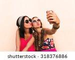 portrait of a beautiful girl... | Shutterstock . vector #318376886
