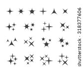 vector sparkles icon set. star... | Shutterstock .eps vector #318377606
