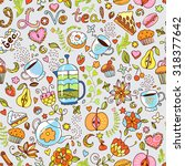 seamless vector pattern with... | Shutterstock .eps vector #318377642