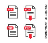 pdf file download icon.... | Shutterstock .eps vector #318380582