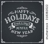 holiday decorations card | Shutterstock .eps vector #318382022
