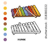 coloring book for children ... | Shutterstock .eps vector #318383222
