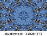 blue mandala star | Shutterstock . vector #318384548