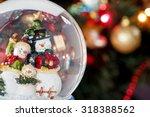 Snow Globe With Happy Snowman...