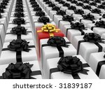 isolated black and white boxes... | Shutterstock . vector #31839187