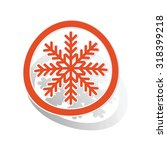 cold sign sticker  orange... | Shutterstock .eps vector #318399218