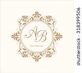 elegant floral monogram design... | Shutterstock . vector #318399506