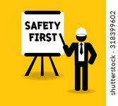 safety first presentation for... | Shutterstock .eps vector #318399602