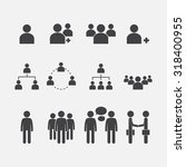 human resource icon set | Shutterstock .eps vector #318400955