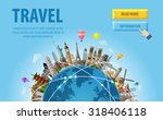 Travel. Famous Monuments Of Th...