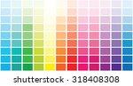 color palette . vector... | Shutterstock .eps vector #318408308