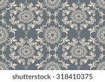 seamless ornament on background.... | Shutterstock .eps vector #318410375