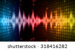 sound waves oscillating dark... | Shutterstock .eps vector #318416282