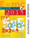 cover report number 2015.... | Shutterstock .eps vector #318418046