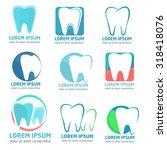 a set of  vector logos for... | Shutterstock .eps vector #318418076