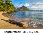 rocky and sandy shore in... | Shutterstock . vector #318419426