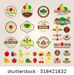 set of fruit logo templates.... | Shutterstock .eps vector #318421832