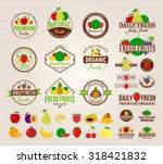 set of fruit logo templates for ... | Shutterstock .eps vector #318421832